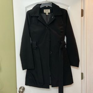 London Fog Black Trench